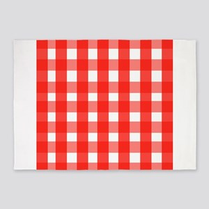 red checks 5'x7'Area Rug