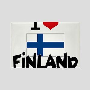 I HEART FINLAND FLAG Rectangle Magnet