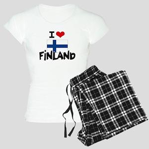 I HEART FINLAND FLAG Pajamas