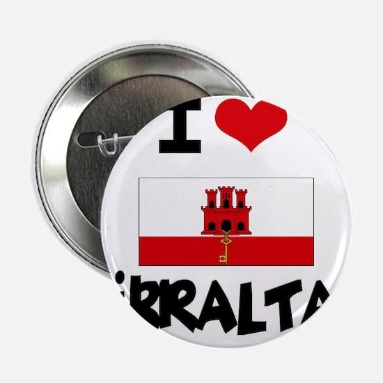 """I HEART GIBRALTAR FLAG 2.25"""" Button"""