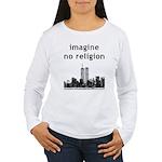 Imagine No Religion Women's Long Sleeve T-Shirt