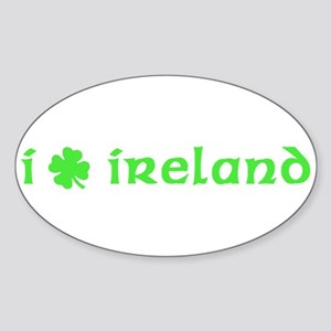 I Shamrock Ireland Oval Sticker