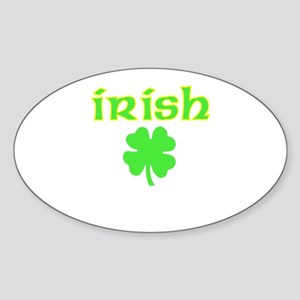 Irish Shamrock Oval Sticker