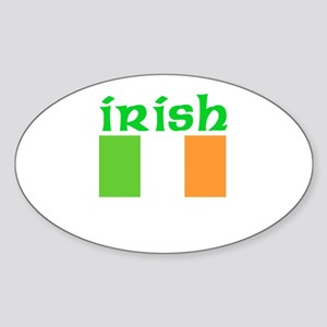 Irish Flag Oval Sticker