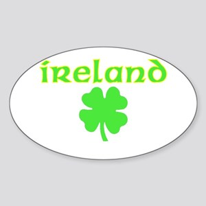 Ireland Shamrock Oval Sticker
