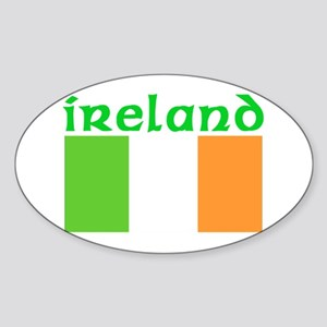 Ireland Flag Oval Sticker