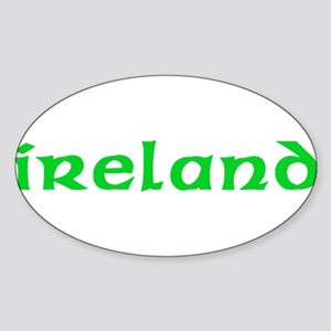 Ireland Oval Sticker