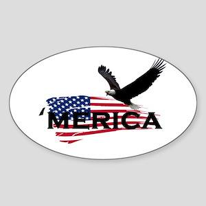 Merican Sticker