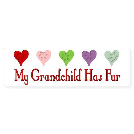 Furry Grandchild Bumper Sticker