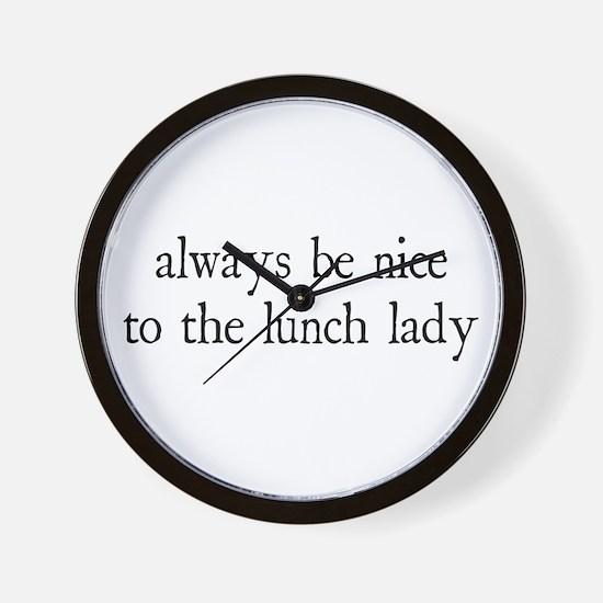 Lunch Lady Wall Clock