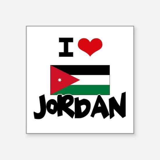 I HEART JORDAN FLAG Sticker