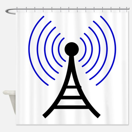 Radio Tower Signal Shower Curtain