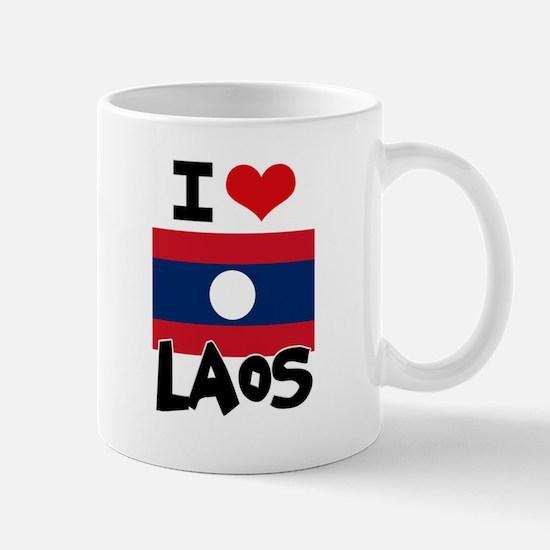 I HEART LAOS FLAG Mug