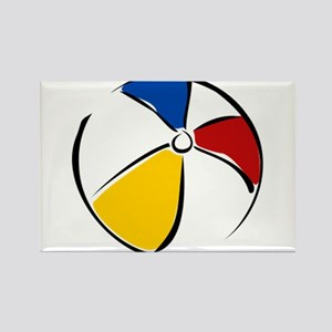 Beach Ball Rectangle Magnet