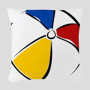 Beach Ball Woven Throw Pillow