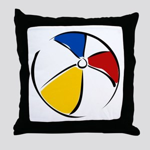Beach Ball Throw Pillow