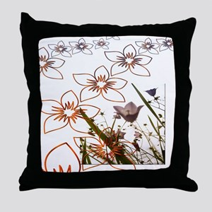 Flower Garden Pattern Art Throw Pillow
