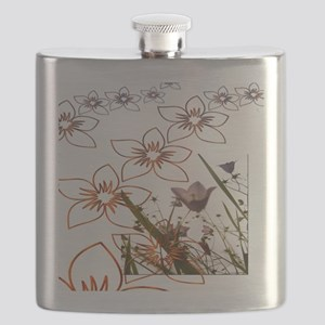 Flower Garden Pattern Art Flask