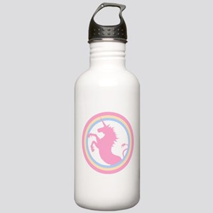 Retro Pink Unicorn Stainless Water Bottle 1.0L