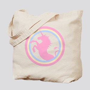 Retro Pink Unicorn Tote Bag