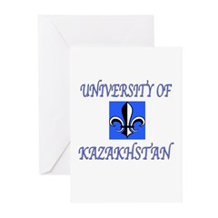 UNIVERSITY OF KAZAKHSTAN BLU FLEUR Greeting Cards