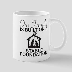 CHRISTMAS: FAMILY - STABLE FOUNDATION Mugs