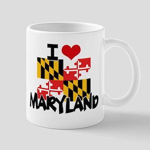 I HEART MARYLAND FLAG Mug