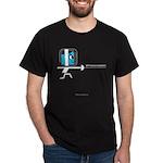 FI Big Attitude Epee Fencer Toon Dark T-Shirt