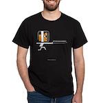 FI Big Attitude Foil Fencer Toon Dark T-Shirt