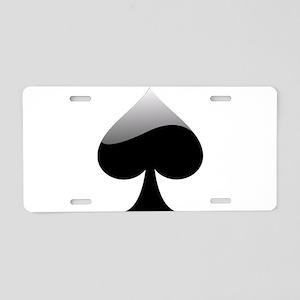 Black Spade Playing Card Symbol Aluminum License P
