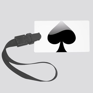 Black Spade Playing Card Symbol Luggage Tag