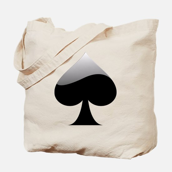 Black Spade Playing Card Symbol Tote Bag