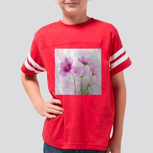 Pink Cosmos Flower Youth Football Shirt
