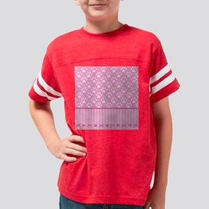 Stripes Paws - pink Youth Football Shirt