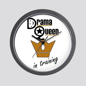 Drama Queen In Training Wall Clock