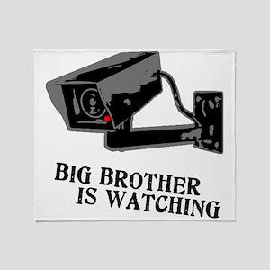 CCTV Big Brother Is Watching Throw Blanket