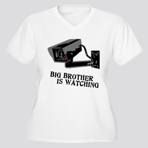 CCTV Big Brother Is Watching Women's Plus Size V-N