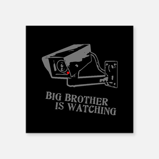 """CCTV Big Brother Is Watching Square Sticker 3"""" x 3"""