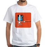 FI Big Attitude Fencing Toon White T-Shirt