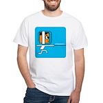 FI Big Attitude Foil Fencing Toon White T-Shirt