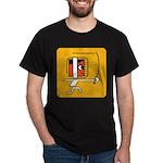 FI Big Attitude Sabre Fencing Toon Dark T-Shirt