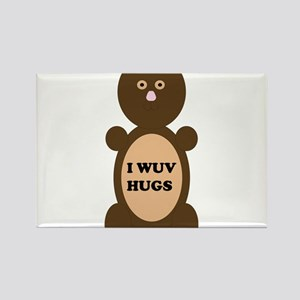I WUV HUGS Rectangle Magnet