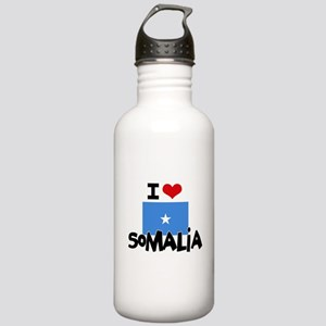 I HEART SOMALIA FLAG Water Bottle