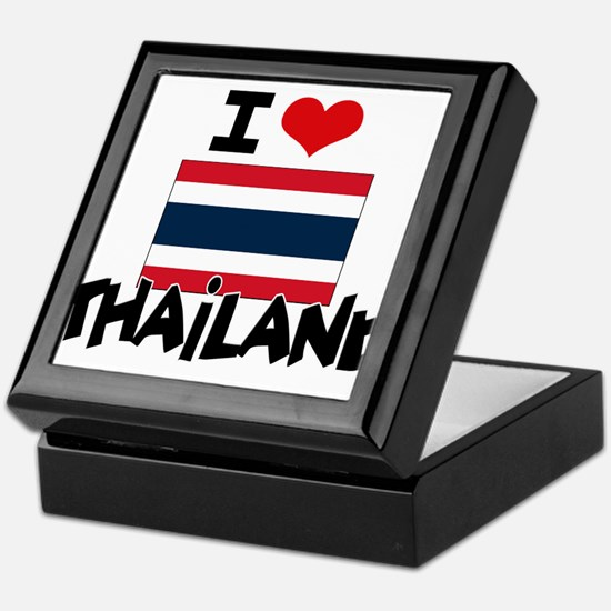 I HEART THAILAND FLAG Keepsake Box