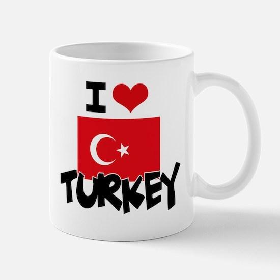I HEART TURKEY FLAG Mug