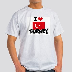 I HEART TURKEY FLAG T-Shirt