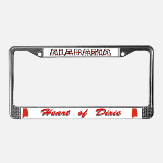 Alabama Flag Drk License Plate Frame