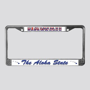 Hawaii Flag Drk License Plate Frame