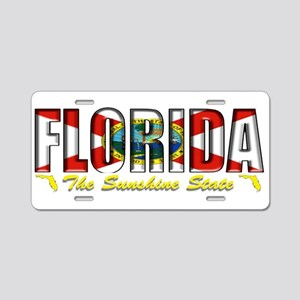 Florida Flag Sunshine Drk Aluminum License Plate