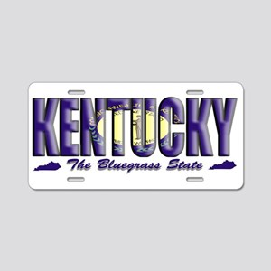 Kentucky Flag Bluegrass Drk Aluminum License Plate